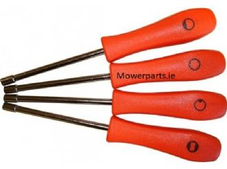 Set of 4 Screwdrivers Carburettor Adjust-Jets | Mowerparts.ie
